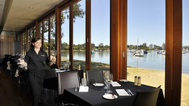 Top restaurant ... Perth's Matilda Bay Restaurant and its stunning water views. Picture: Supplied.