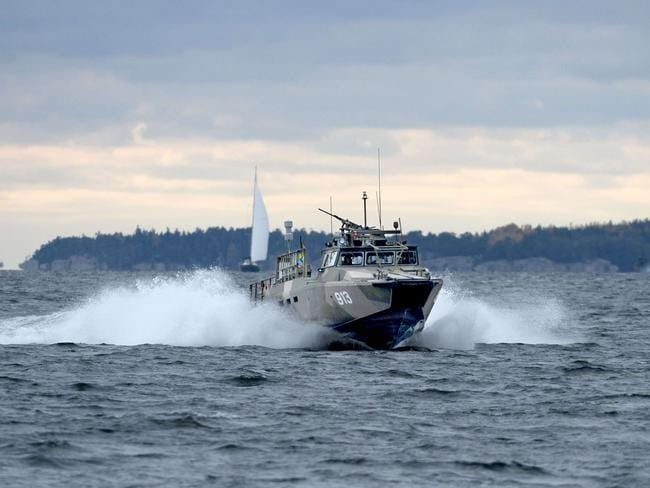 Patrol ... A Swedish Navy fast-attack craft in the the Stockholm Archipelago, Sweden. Source: AFP