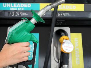 Unleaded Max E10 bowser, or petrol pump, at Metro Petroleum service station at Randwick in Sydney, NSW. The price of fuel with an ethanol blend has increased dramatically.