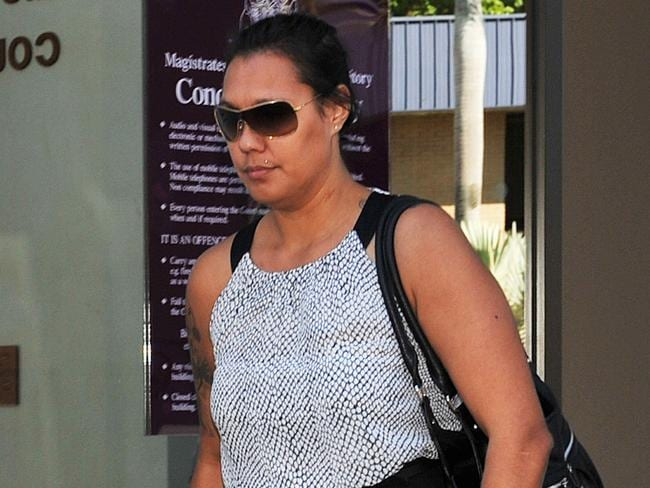 Police officer Karen Marie King has been fined $1000 after punching another woman outside Monsoons nightclub.