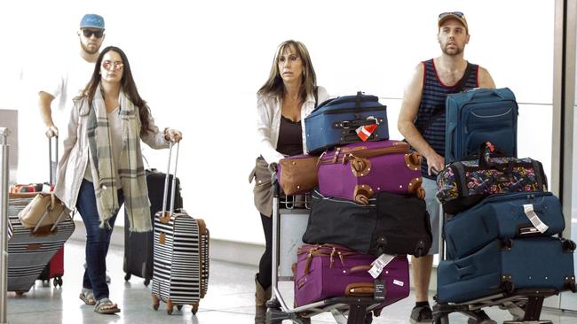 The extended Markle clan didn't let a little thing like an invitation get in their way of heading to London. Picture: Constant Media/Australscope