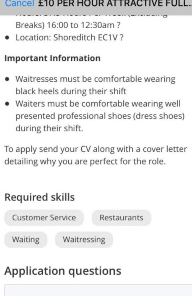 Sexist Job Advert House Of Wax Shoreditch Called Out