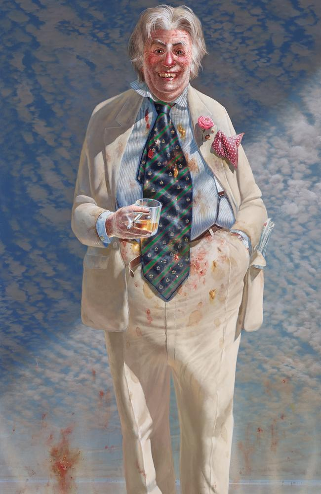 Hard to miss ... Archibald finalist Tim Storrier's 'The Member', Sir Les Patterson.