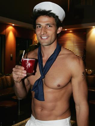 Pictures of Tim Robards as a topless waiter emerged soon after his turn on the show was announced.