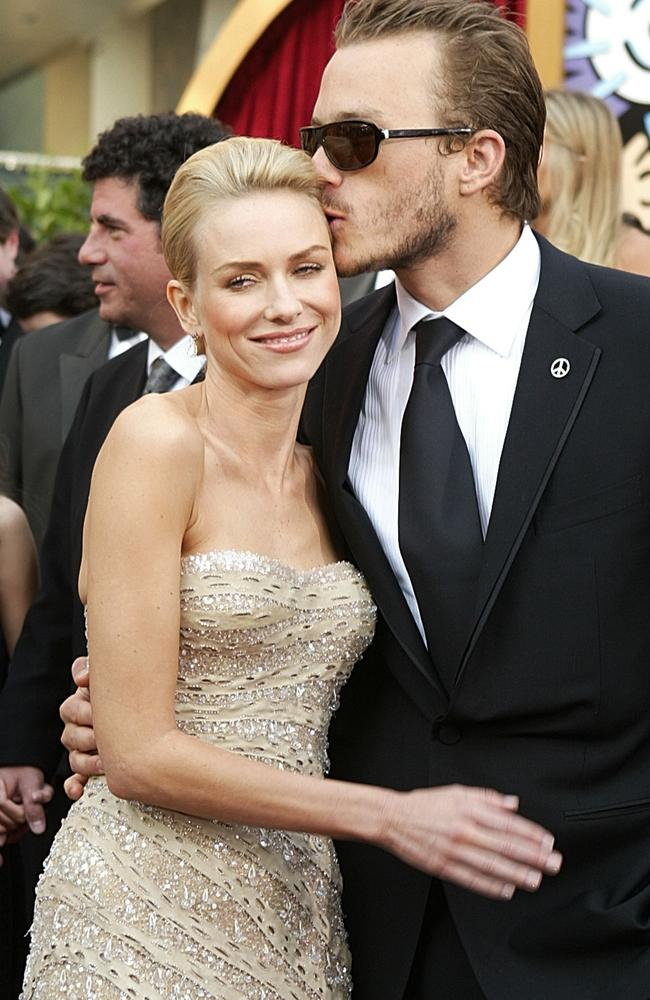 Ledger with his ex-girlfriend and actress Naomi Watts in 2004. (Photo by Carlo Allegri/Getty Images)