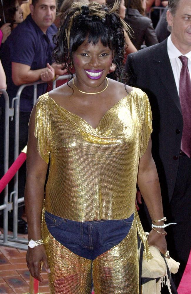 Marcia, Marcia, Marcia. Are they gold chaps or a gold jumpsuit with the crotch cut out? She's pictured here at the 2000 awards. Picture: News Corp Australia