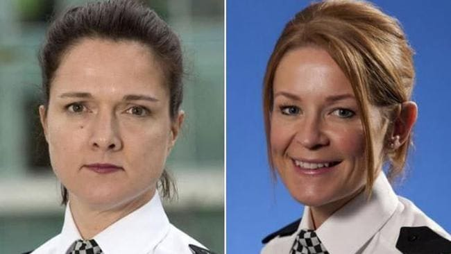 Assistant Chief Constable Sutcliffe, left, is alleged to have 'flashed her breasts' at her younger colleague, Superintendent Sarah Jackson, at a work function. Picture: Manchester Evening News