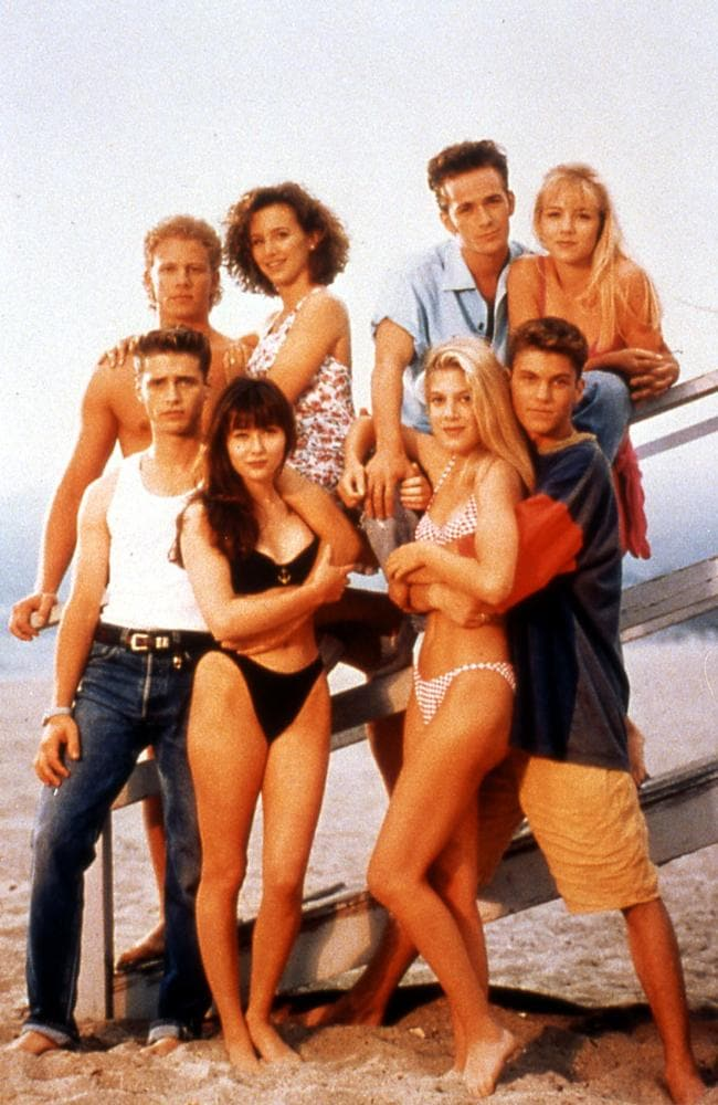 The cast of Beverley Hills: 90210.