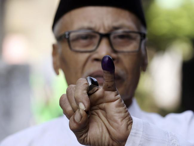 Millions of Indonesians in the capital Jakarta are electing a governor Wednesday after a polarizing campaign that undermined the country's reputation for practicing a tolerant form of Islam. Picture: Achmad Ibrahim