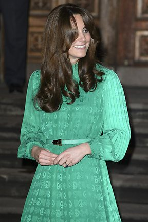 Catherine, Duchess of Cambridge, new style is reminiscent to that of Charlie's Angel Kelly Garrett played by Jaclyn Smith. (Photo by Ben Pruchnie/Getty Images)