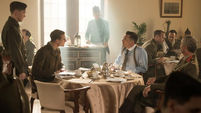 Hope to attract younger viewers ... Actors James Fraser, Joel Jackson, Sam Worthington, and Bryan Brown in Deadline Gallipoli. Picture: Matt Nettheim.