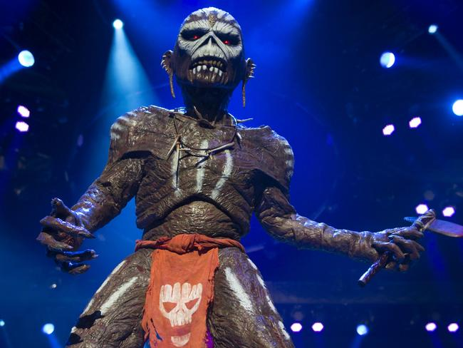 Legendary Rock Group Iron Maiden Play At Perth Arena