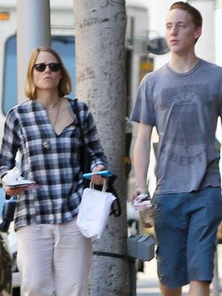 Role model ... Jodie Foster, with her son Charles Foster, had two sons with her ex partner. Picture: Splash