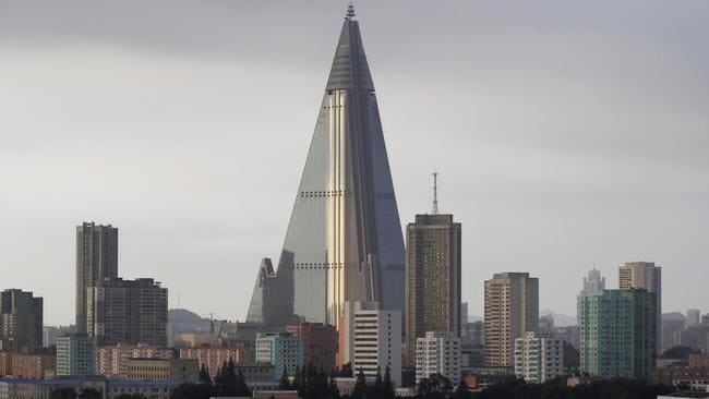 The building is among the tallest in the world but is thought to be completely unoccupied. Picture: AP