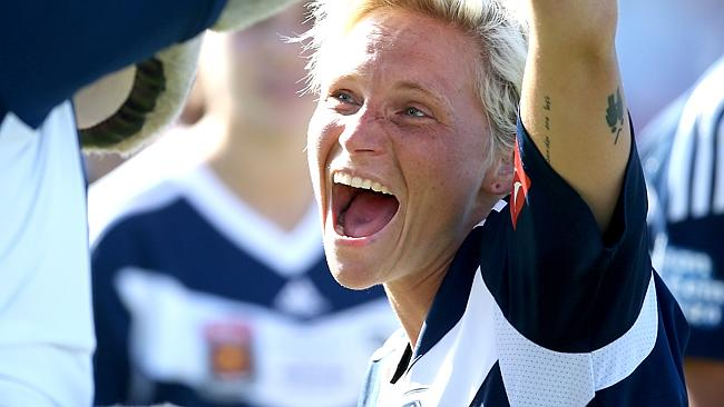Melbourne Victory's Jessica Fishlock won the W-League's Players' Player of the Year Award.
