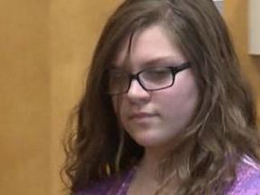 Anissa Weier is led into court where she pleaded guilty to a lesser charge in the Slenderman case. Picture: WISN 12 News