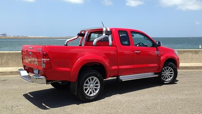 Another popular car .... the Toyota HiLux 2014 model. Picture: Joshua Dowling