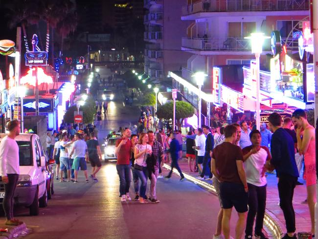 "Magaluf, Spain: the place so wild it's earned the nickname ""Shagaluf"". Picture: Steve Bainbridge"