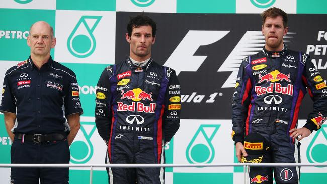 Malaysia 2012, and one of the most awkward podiums in F1 history.