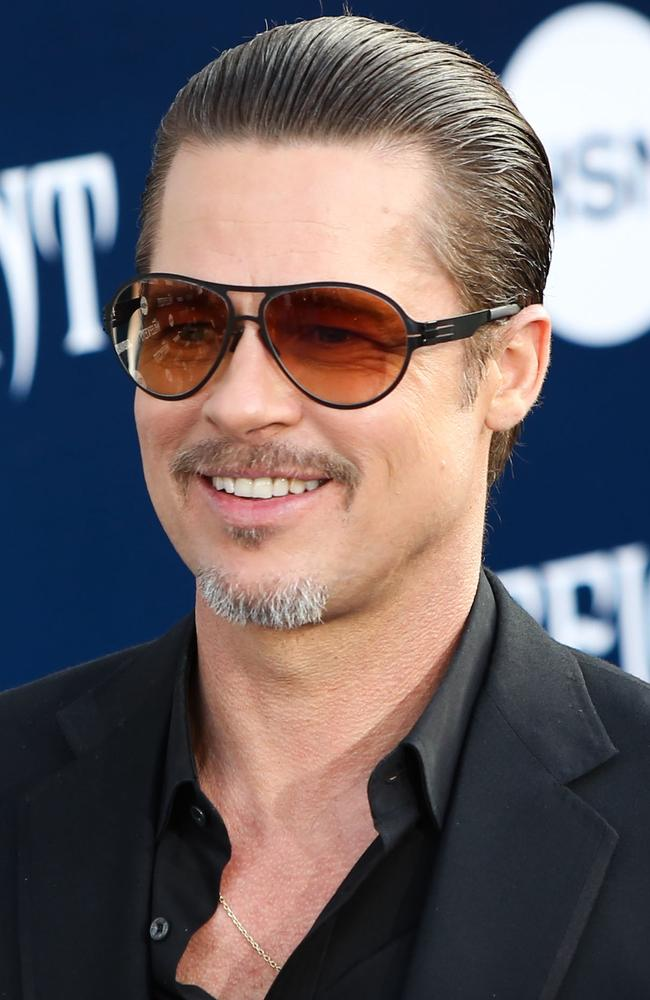 Brad Pitt arrives at the world premiere of Disney's 'Maleficent' on May 28, 2014 in Hollywood.