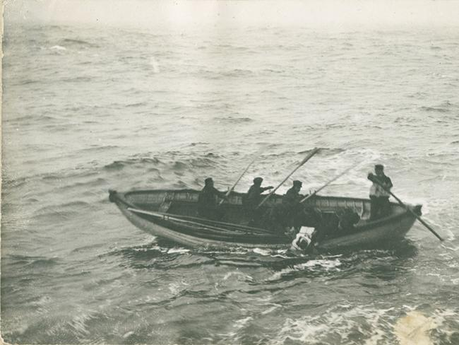 But a boat less than 20km away, the Californian, overlooked the Titanic's distress signals, arriving the next morning, when only dead bodies remained. Picture: Nova Scotia Archives