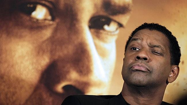 American actor Denzel Washington at a 2010 press conference. Picture: AFP.