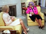 <p>With Dame Edna Everidge.</p>