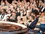"The stunned audience after Best Picture ""La La Land"" was discovered to be read by mistake during 89th Academy Awards. Picture: Australscope"