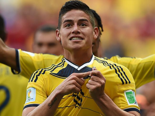 Colombia's star midfielder, James Rodriguez.
