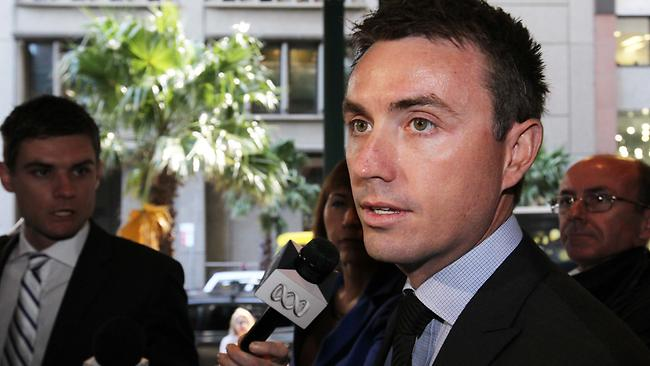 Pic of James Ashby,arriving at the Federal court in Sydney to begin mediation over his sexual harassment dispute with speaker Peter Slipper. Picture: Ross Schultz