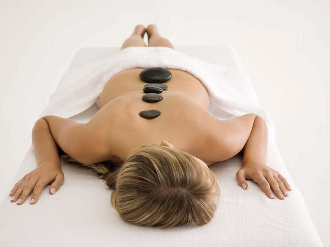 How your hot stone massage will start.