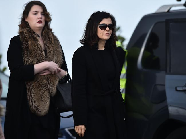 Ali Hewson, the wife of U2's Bono, arrives at Dolores O'Riordan's funeral in Ireland. Picture: Charles McQuillan/Getty Images