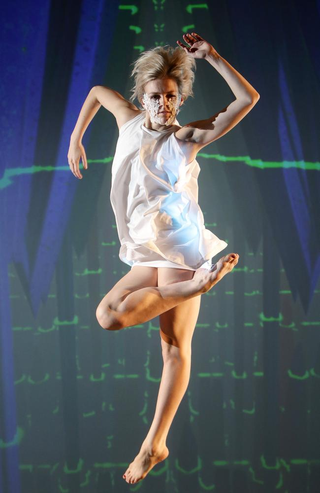 Samantha Hines performs in the 3D dance work 'Multiverse' at Gravity Dance Studio in Mile End. Picture: Calum Robertson