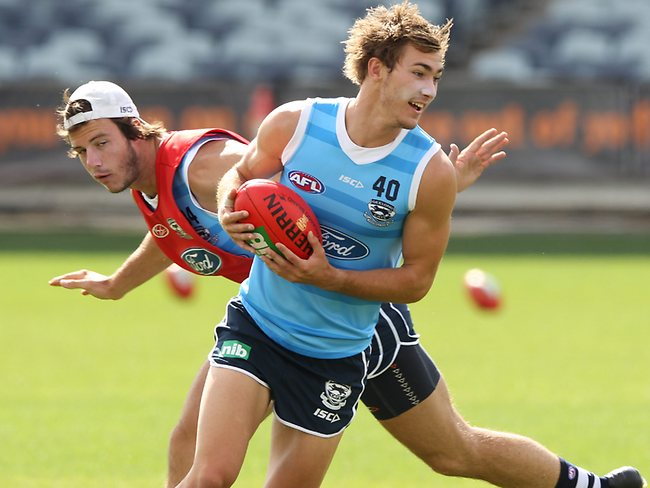 Top draft pick Jackson Thurlow is having an impressive pre-season. Picture: Mike Dugdale