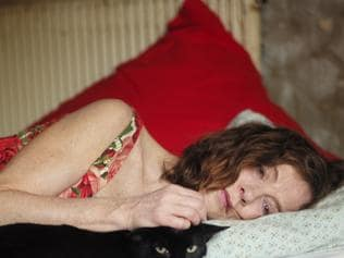 Isabelle Huppert in a scene from French film Things to Come