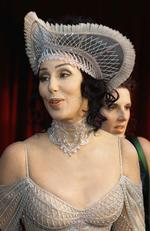 ... and this incredible headpiece in 1998 ... because ... Cher. Picture: AP