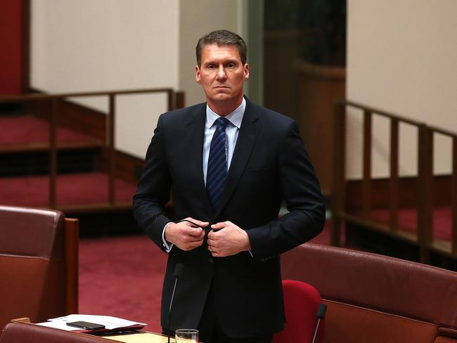 Senator Cory Bernardi has accused the major parties of a cover-up. Picture: Kym Smith