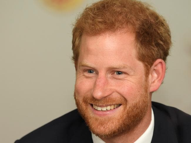 """In 2016, Prince Harry defended Meghan Markle from """"sexism and racism"""" on social media. Picture: Toby Melville — WPA Pool/Getty Images"""