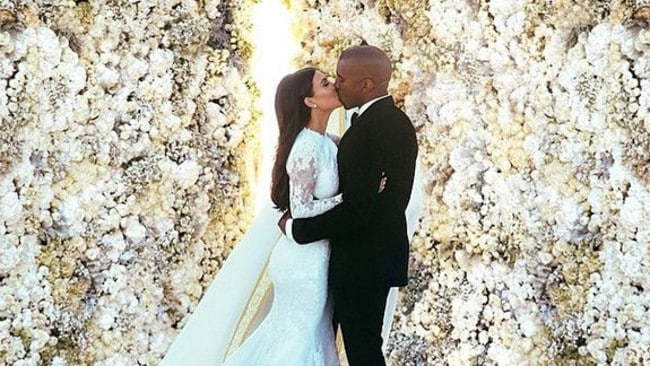 Kimye's wedding pics could fetch up to $11 million. Pity they won't sell. Picture: Instagram