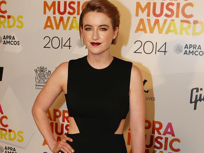 Crowd favourite ... Megan Washington arrives at the APRA Awards. Picture: Chris Hyde/Getty Images