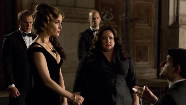 Rose Byrne played the villain, opposite Melissa McCarthy, in Spy.