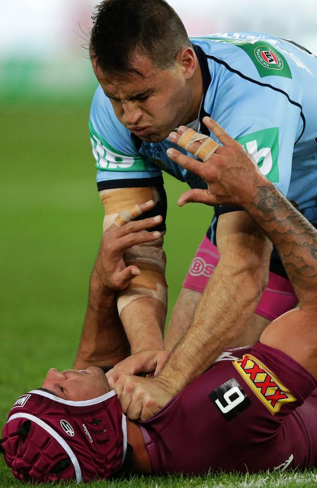 NSW's Josh Reynolds and Queensland's Johnathan Thurston were at each other's throats throughout State of Origin game two.