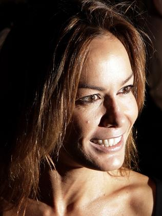Tara Palmer-Tomkinson arriving at the Ben de Lisi catwalk show on the first day of London's Fashion Week in 2007. Picture: AFP