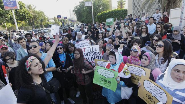 No more ... Egyptian women protest against sexual harassment in Cairo.