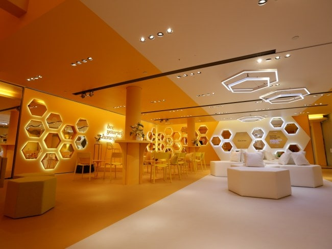 In June, Bumble opened a physical space in New York City for dates to meet up in person. Photo: Bumble