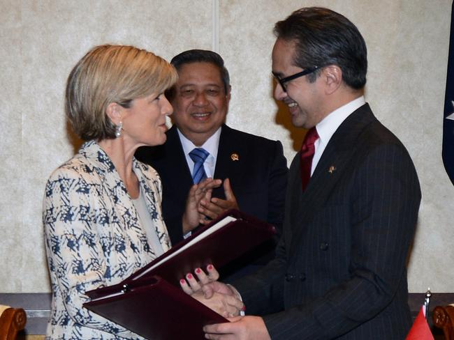 Julie Bishop has been praised for her work as Foreign Minister. In particular her negotiations with Indonesia after revelations Australia had spied on their leaders. Picture: AFP / Sonny Tumbelaka