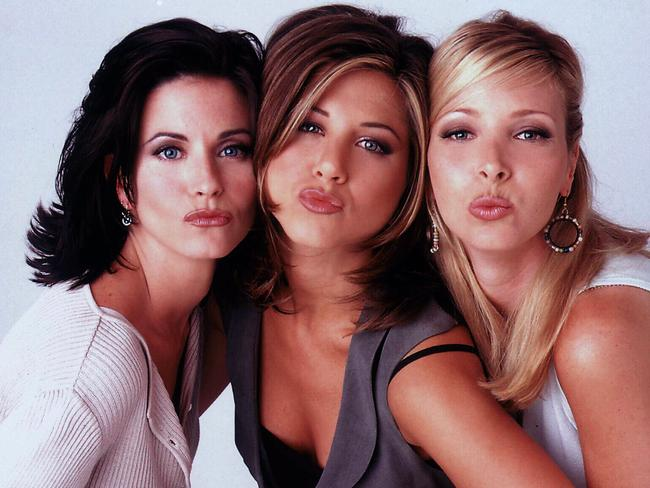 Still Friends ... Courteney Cox, Jennifer Aniston and Lisa Kudrow.