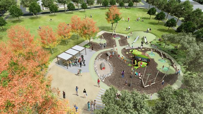 An artist's impression of Leap Frog Park at the Point Cook estate.