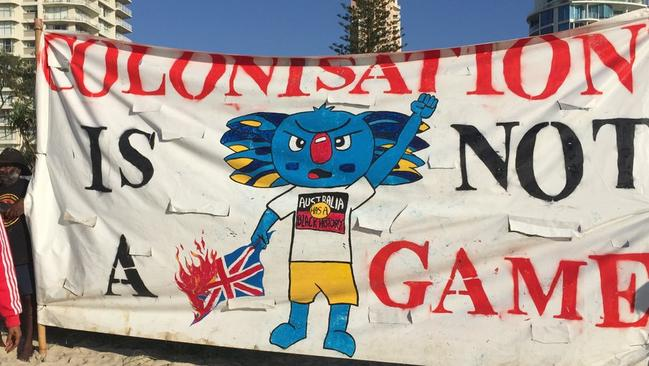 Another of the banners. Picture: Twitter