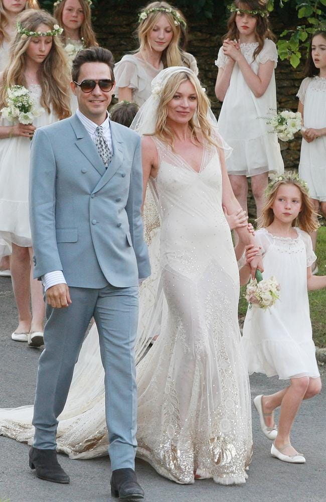 Jamie Hince and Kate Moss just after their wedding ceremony.